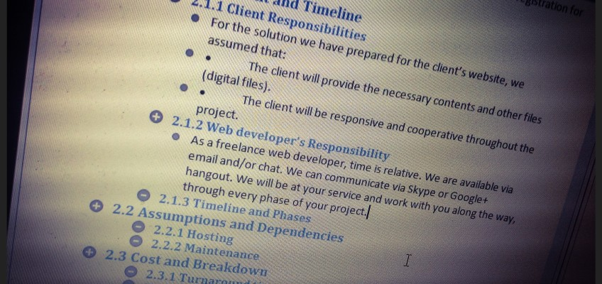 Web Design Project Proposal Outline